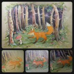 """What does the fox say"" Illustration 2014 - Polychromos / Buntstifte auf Recyclingpapier im Format A3"