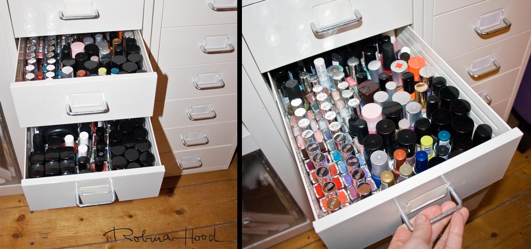 Kosmetik Aufbewahrung Ikea getaggt und erwischt wie viele nagellacke besitzt robina