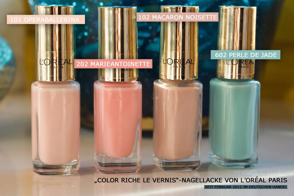 Ab heute im Handel ] Die neuen Nagellacke von L\'Oréal Paris \