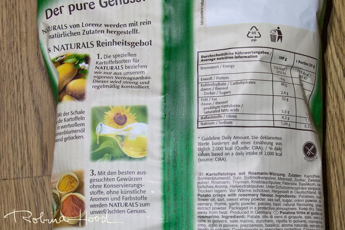 Rückseite + Zutatenliste Lorenz Naturals mit Rosmarin