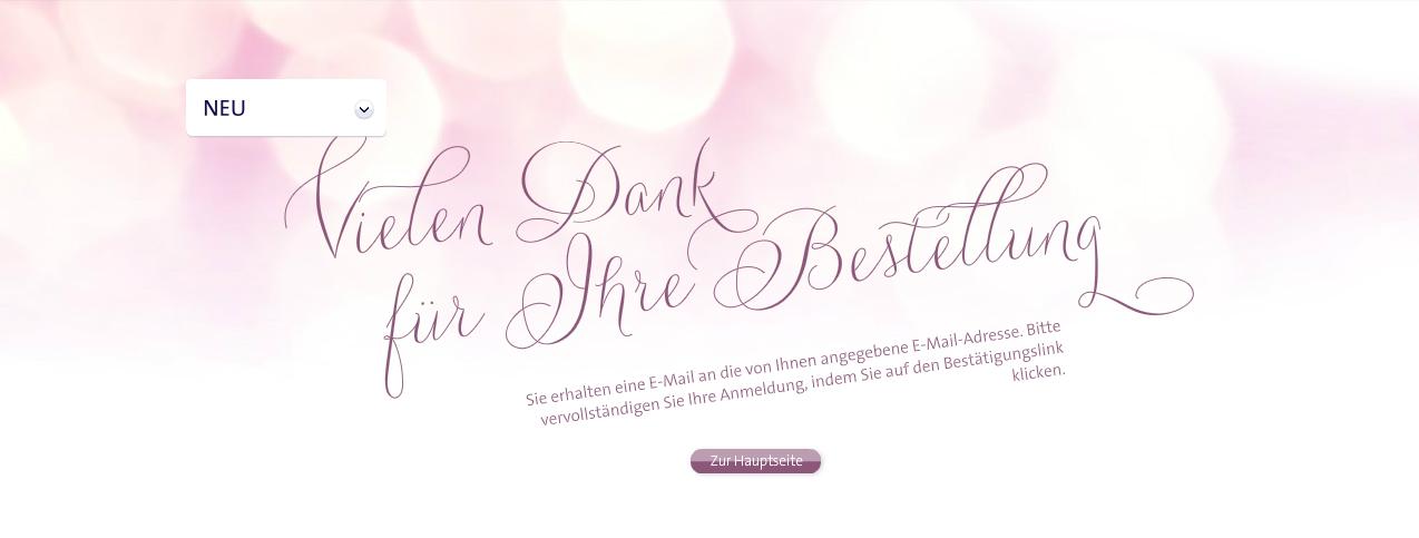 """Abo dm-Box """"dm Lieblinge"""" abgeschlossen: Vielen Dank für Ihre Bestellung"""