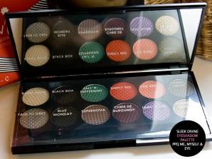 Palette geöffnet: Farben der Sleek Makeup  Lidschatten Palette - i-Divine PPQ Me, Myself & Eye