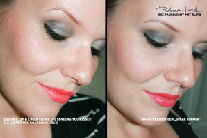 "essence ""Ready for Boarding""-LE 2012 und MAC Cremesheen Lipstick ""Speak Louder"" im Vergleich"