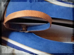 Ausgepackt: Tamaris-Slipper mit durchgängier leichter Plateausohle in maritimen Farben mit Fesselband
