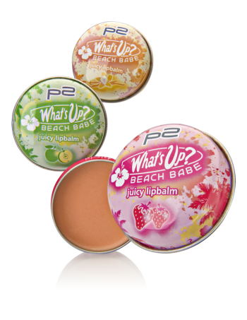 "Limitiert bei dm zu bekommen - p2 ""What's up? Beach Babe""- Kollektion. Hier: juicy lipbalm"