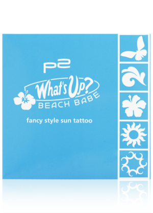"Limitiert bei dm zu bekommen - p2 ""What's up? Beach Babe""- Kollektion. Hier: fancy sun tattoo"
