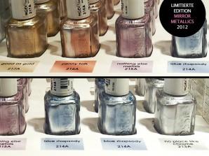 essie mirror metallics: limitierte Nagellack-Kollektion (Jahr 2012) in fünf metallischen Nuancen mit Spiegelglanz-Oberfläche | Farbbezeichnungen
