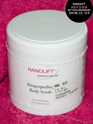 Bei 1-2-3.tv geshoppt: NANOLIFT BODY SCRUB: Bodypeeling / Body Scrub 500 ml für ca. 10 Euro