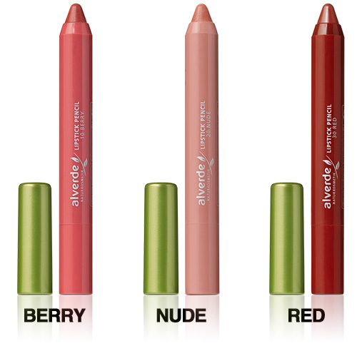 Neu ab September 2012: Lipstick Pencil in drei schönen Farben: berry, nude, red