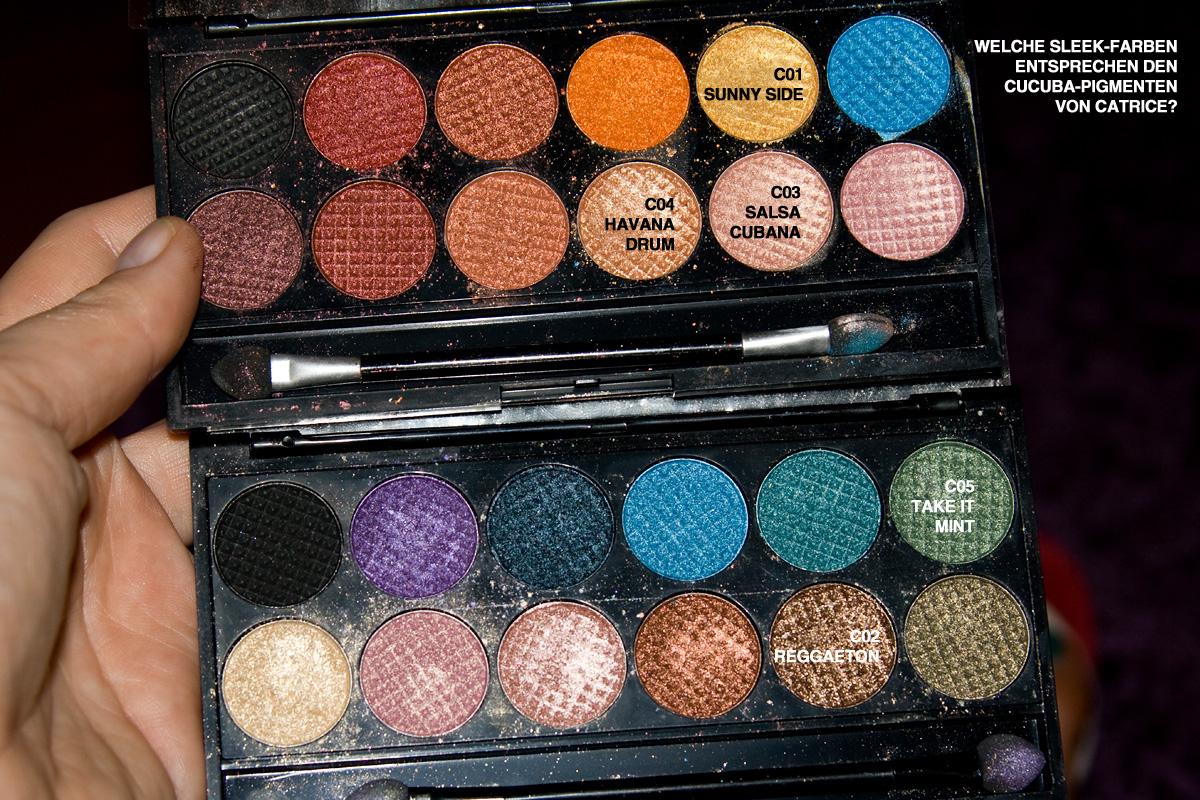 "Sleek-Paletten Dupes zu den CATRICE ""CUCUBA""-Pigment-Eyeshadows"