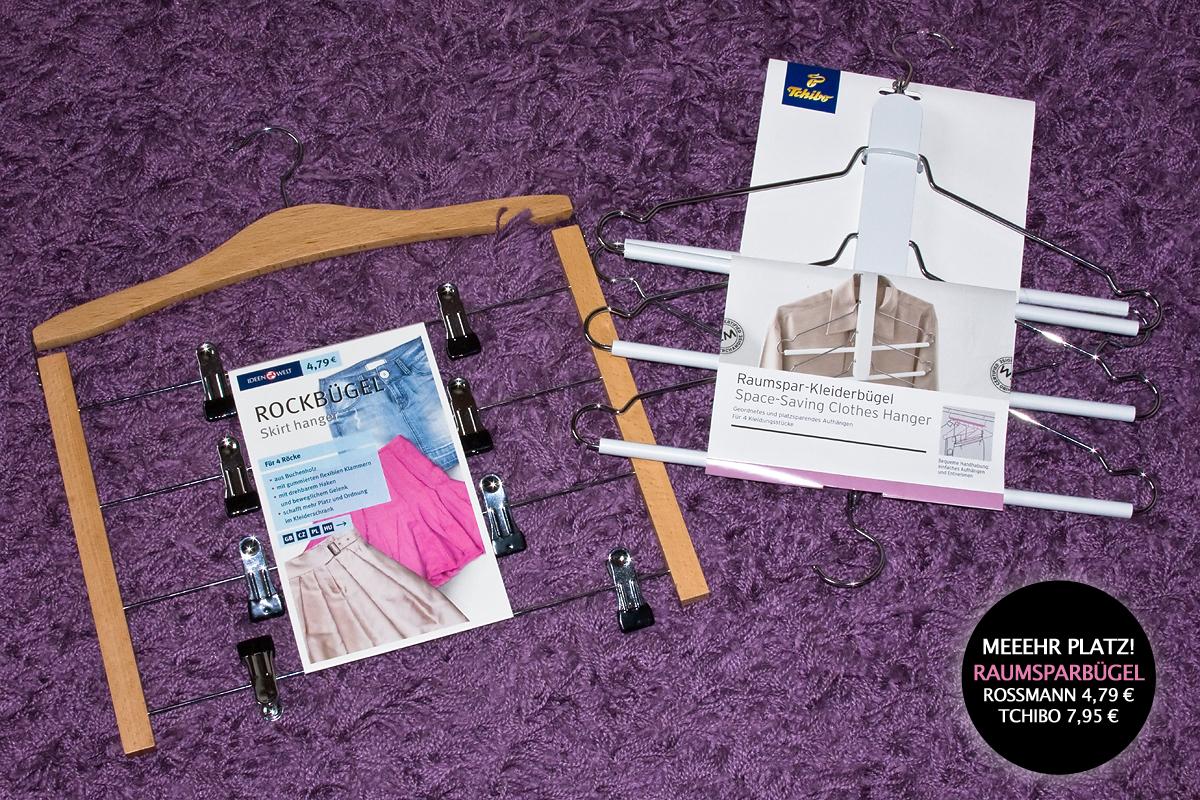 Rockbügel und Raumsparbügel/Mehrfachkleiderbügel von Rossmann und von Tchibo