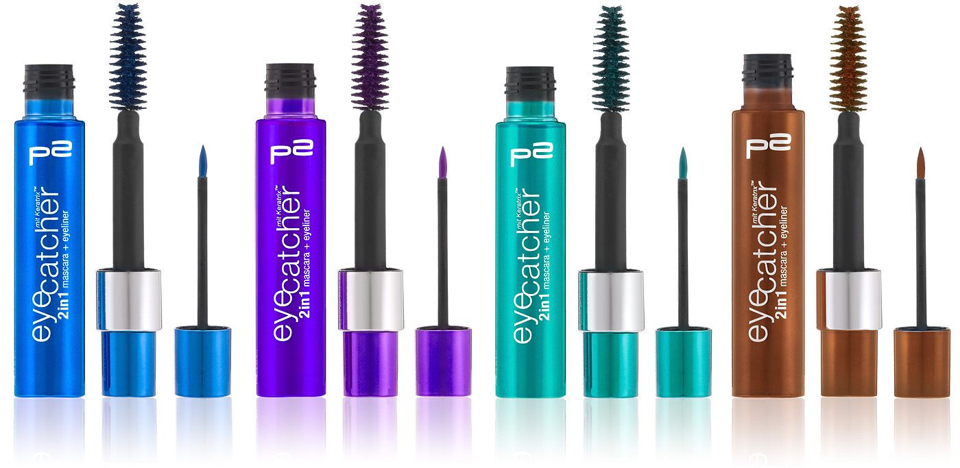 p2 cosmetics perfect Look Herbst 2012 Eyecatcher 2in1 Mascara und Eyeliner