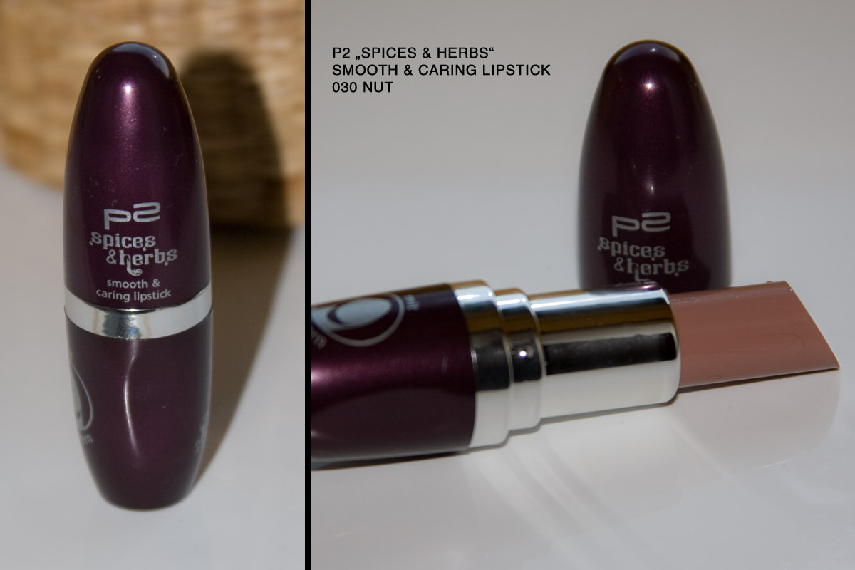 "P2 ""Spices & herbs"" limited Edition August 2012: smooth caring lipstick 030 nut"
