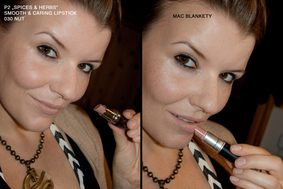 "Tragefotos: links p2 ""Spices & herbs""smooth caring lipstick 030 nut 