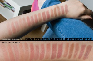 Swatches all meiner Nude-Lippenstifte: Hier könnt ihr direkt vergleichen: MAC, p2, alverde, Alterra, ARTDECO, CATRICE, Manhattan, L.A. Girl, Rival de Loop