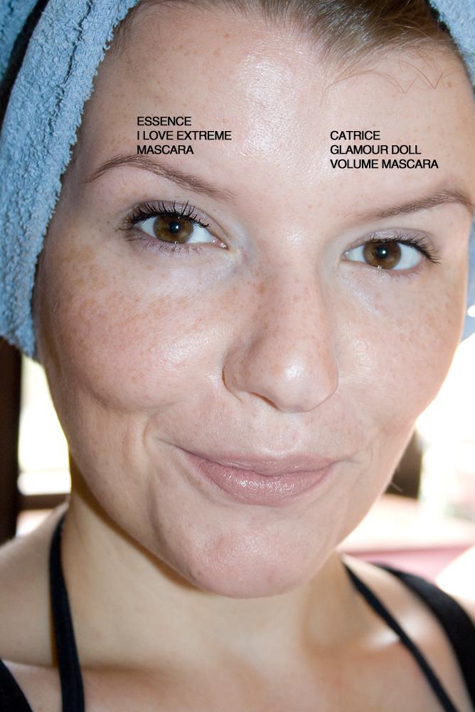 CATRICE Glamour Doll Volume Mascara im Vergleich mit der essence I love Extreme Mascara