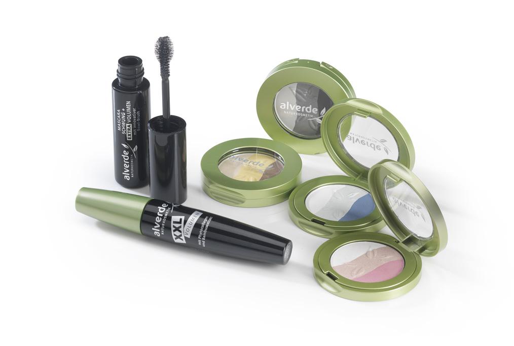 Alm Beauty Augen: Trio-Lidschatten und Mascara