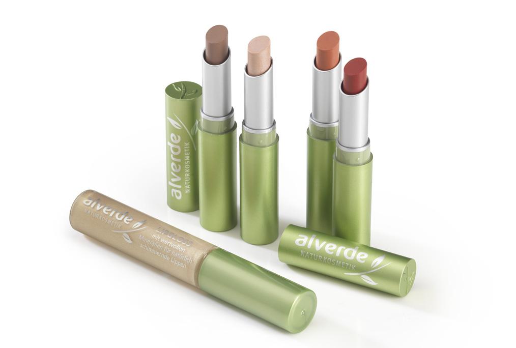 "alverde ""Alm Beauty"" limited Edition im Oktober 2012 Lippenstifte"