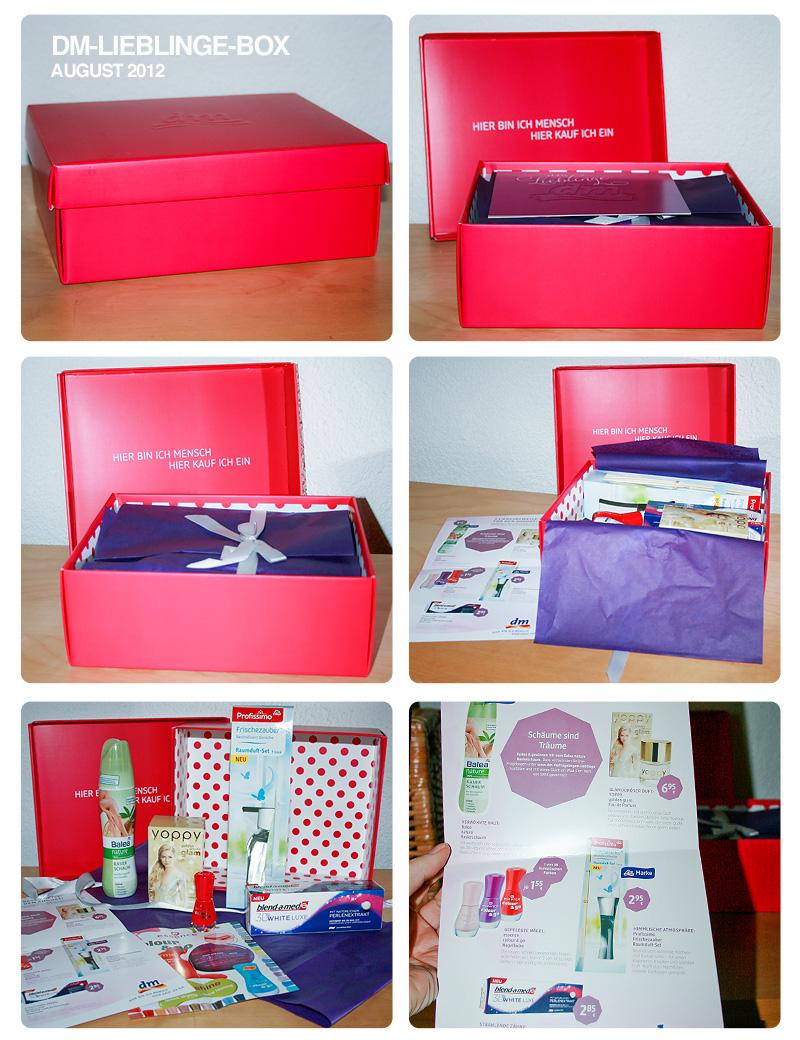 """Die """"dm Lieblinge""""-Box im August 2012"""