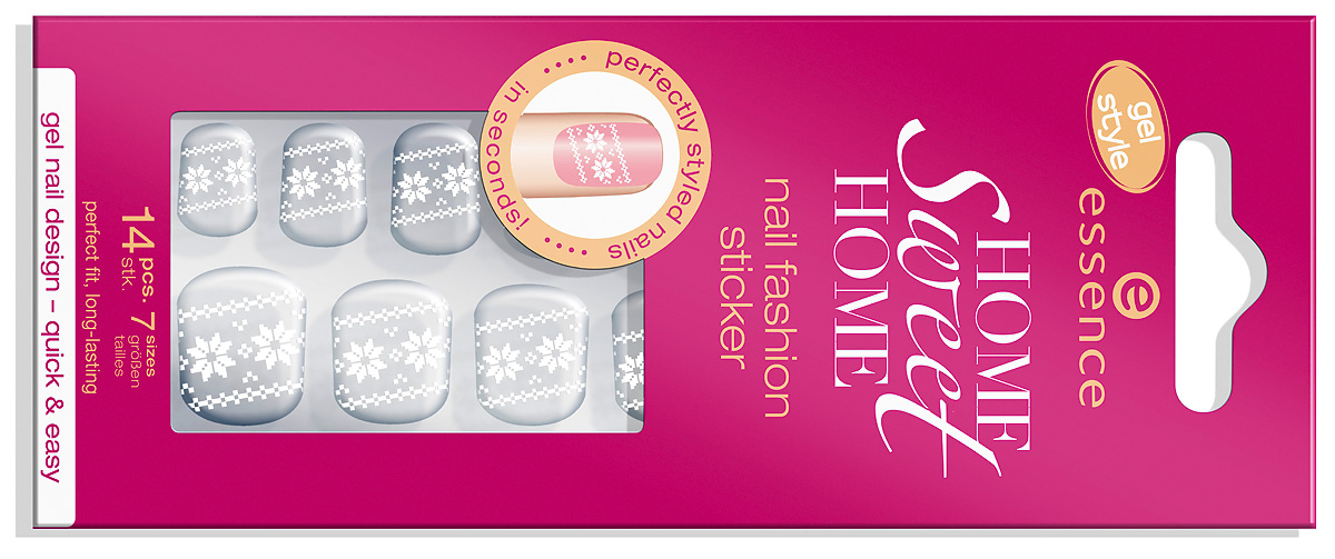 "Trend Edition essence November 2012 ""home sweet home"" nail fashion gel sticker"