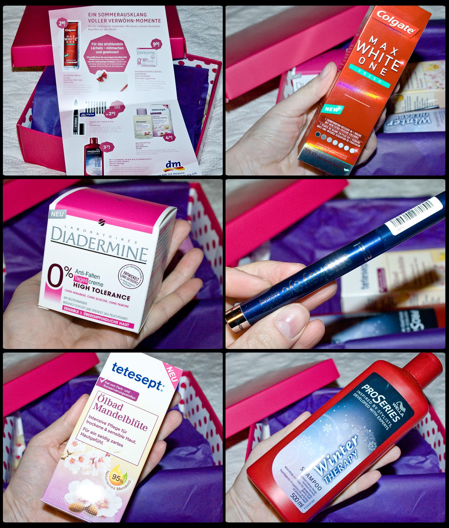 Robina Hood hat ausgepackt: die dm Lieblinge-Box im Oktober 2012
