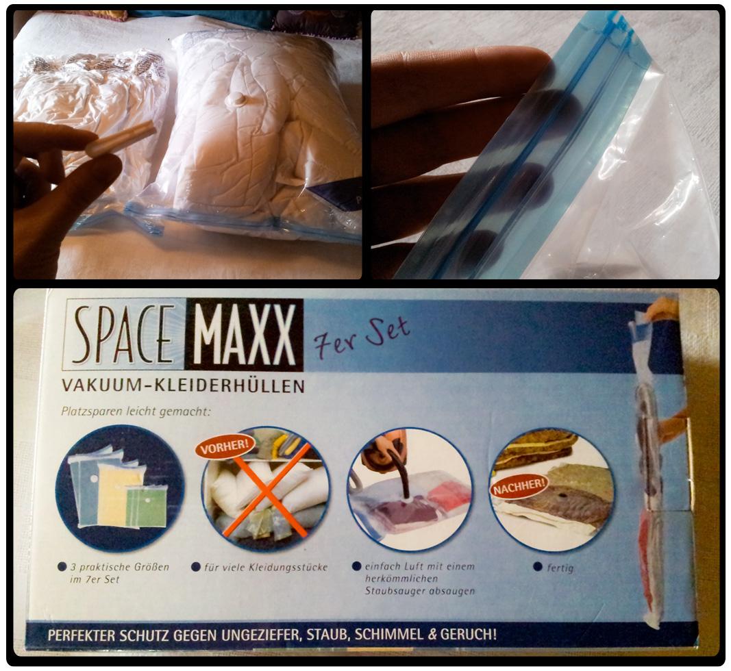 Platz sparen mit dem Space MAXX | Vakuumbeutel mit Zipperverschluss für handelsübliche Staubsauger