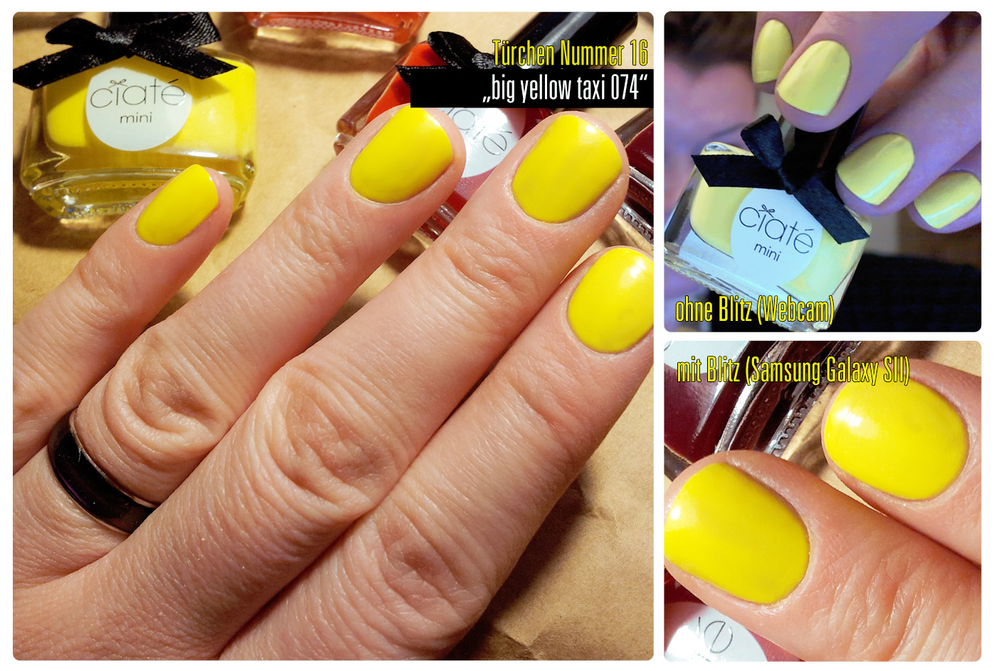 "Ciaté Adventskalender Mini Mani Month Nagellacke | Türchen Nummer 16: ""big yellow taxi 074"""