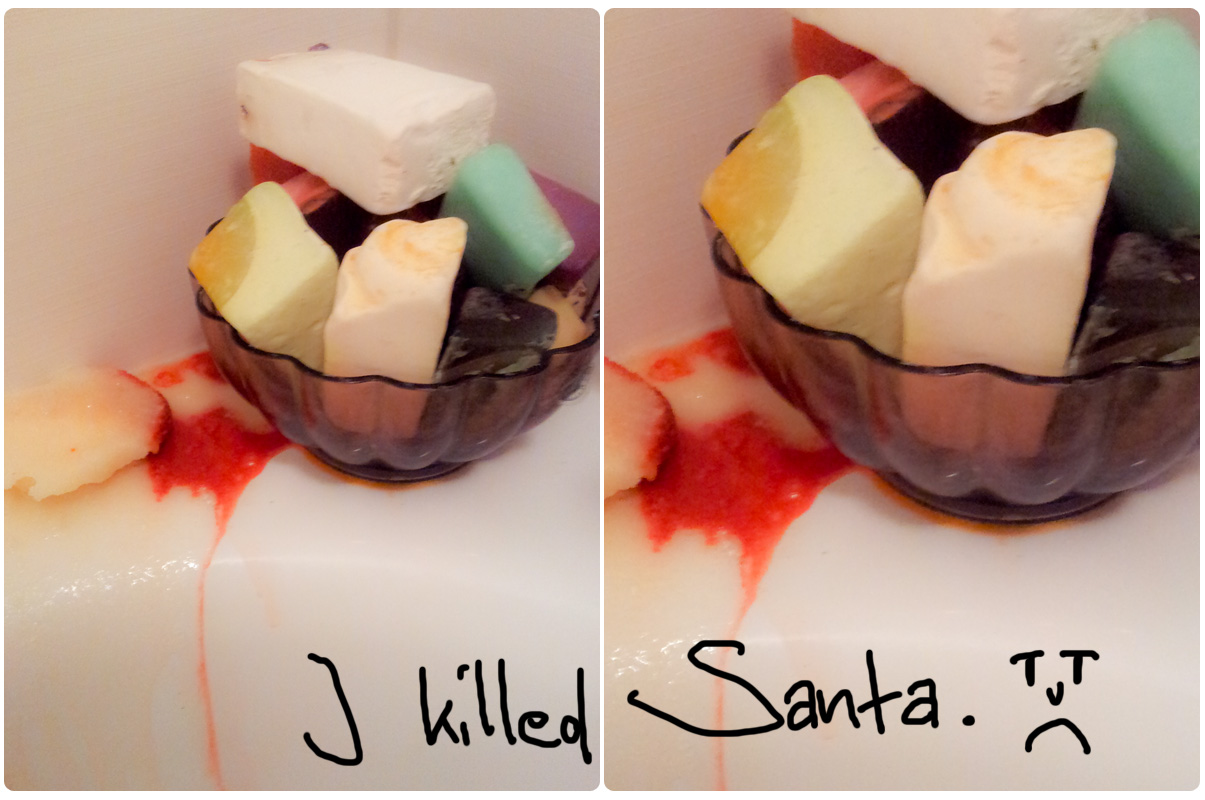 I killed Sandy Santa (Lush Sugar Scrub)