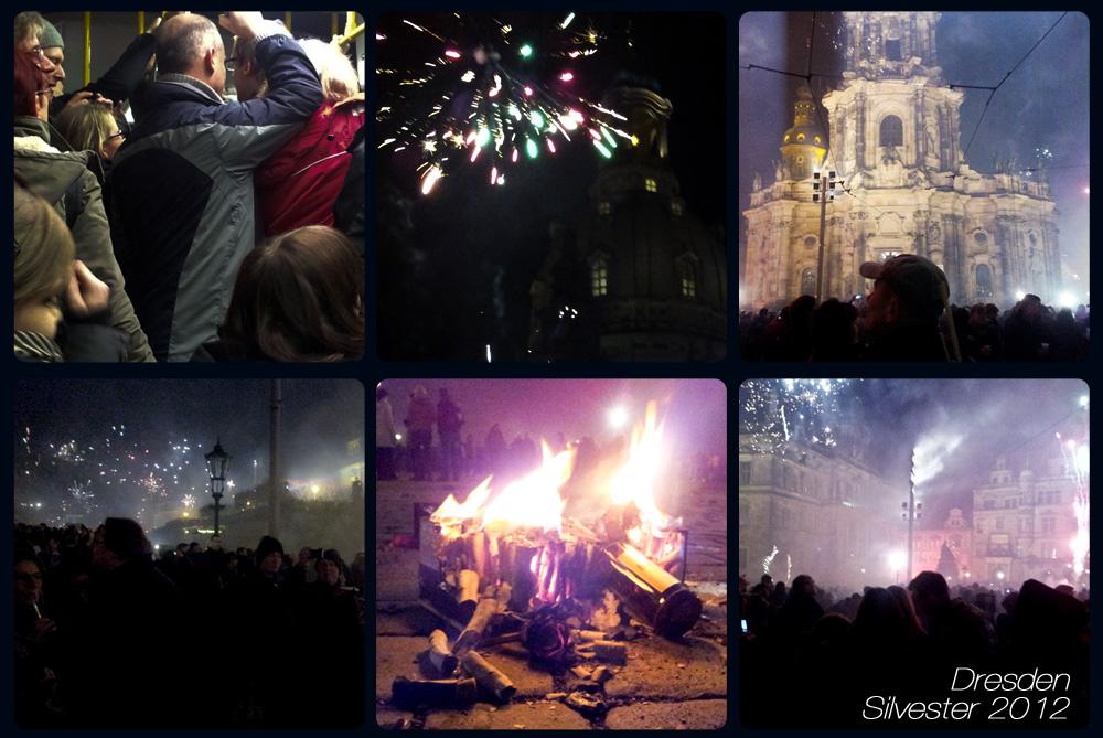 Silvester 2012 an der Brühlschen Terrasse in Dresden
