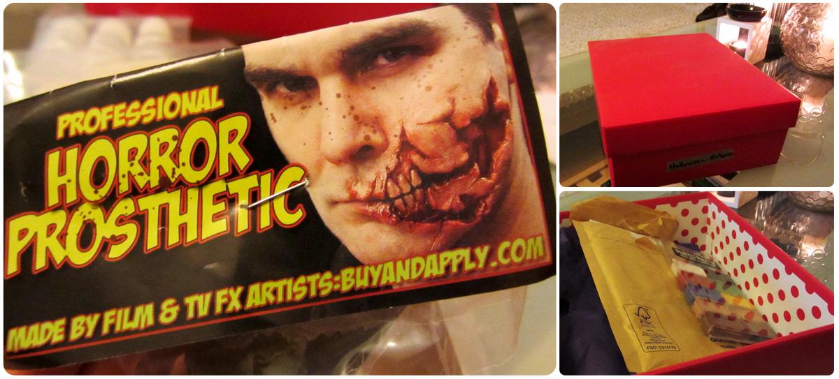 """Meine Bestellung beim """"RND Vertrieb"""": buyandapply Prothese """"ripped face""""/aufgerissenes Gesicht"""