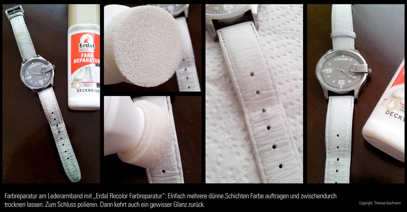 Altes weißes Leder wieder restaurieren, aufmöbeln, pflegen