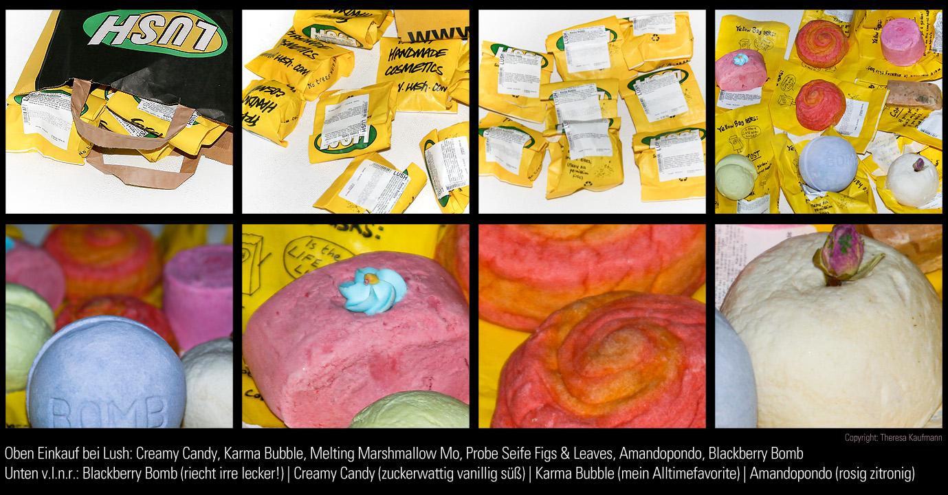 Lush Haul: Schaumbäder und Badebombe + Seifenprobe