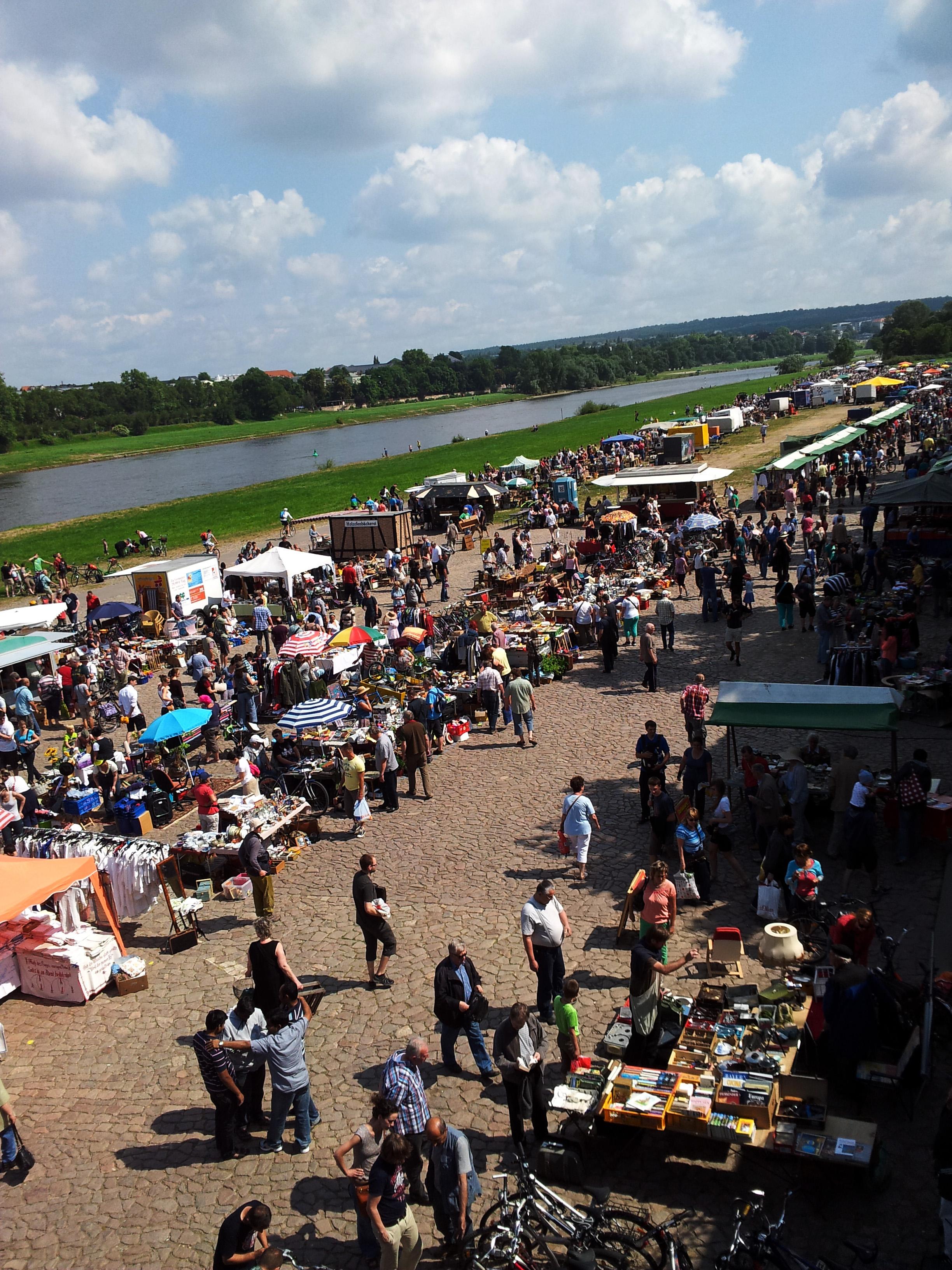 Flohmarkt Dresden Elbwiese: Jeden Samstag