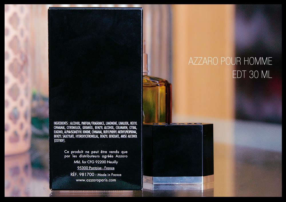 Azzaro pour homme Eau de Toilette 30 ml vapo Duftbeschreibung Duftnote Inhaltsstoffe Test Rezension