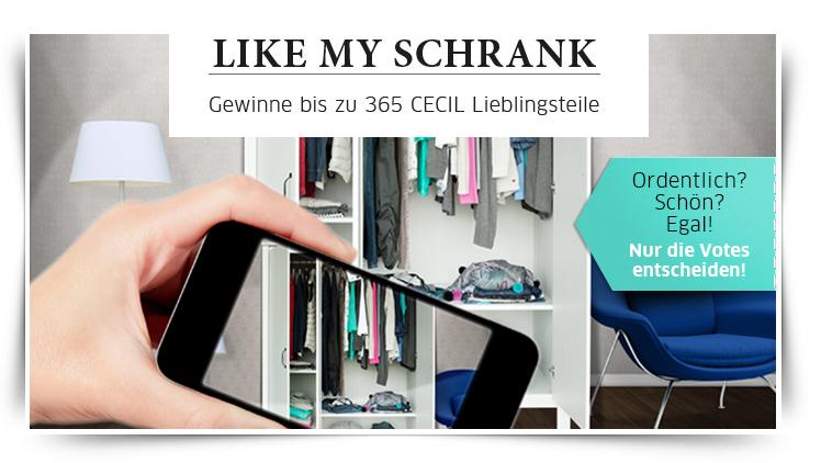 """Challenge und Gewinnspiel in einem """"Like my Schrank"""" von CECIL - Bis zu 365 Lieblingsteile gewinnen!"""