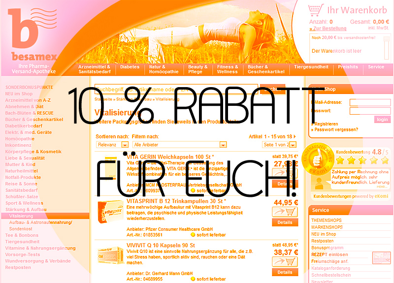 besamex 10 % Rabattcode