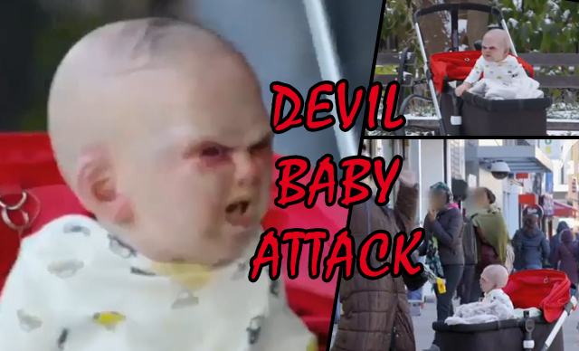 viral video prank pr devil baby attack