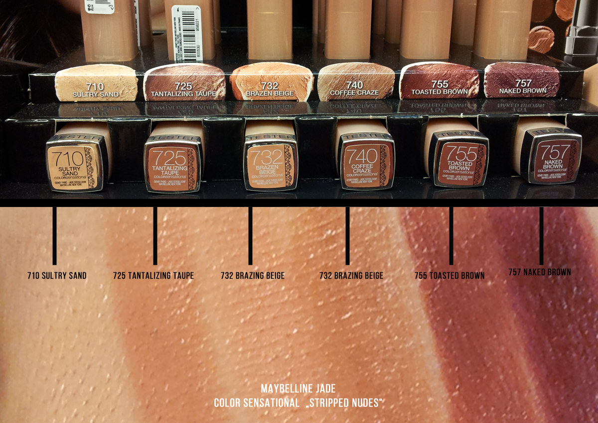 Maybelline Jade color sensationel Stripped Nudes - Swatches