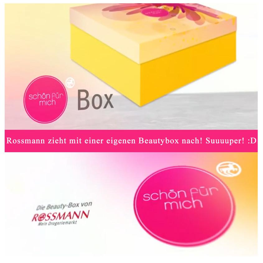 """März 2014: Rossmann führt eine eigene Beauty-Box ein: """"Schön für mich""""-Box"""
