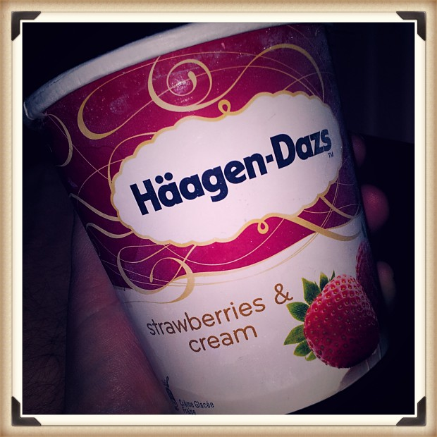 Häagen-Dazs Strawberries & Cream Erdbeereis