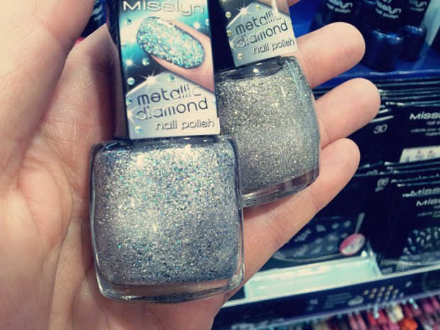 "Limited Edition Nagellacke von Misslyn ""Galaxy Nails"" Juni und Juli 2014: Satellite war und gold moondust Metallic Diamond Effektlacke"