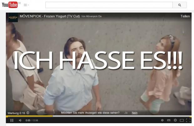 Mövenpick Frozen Yogurt Werbeanzeige YouTube