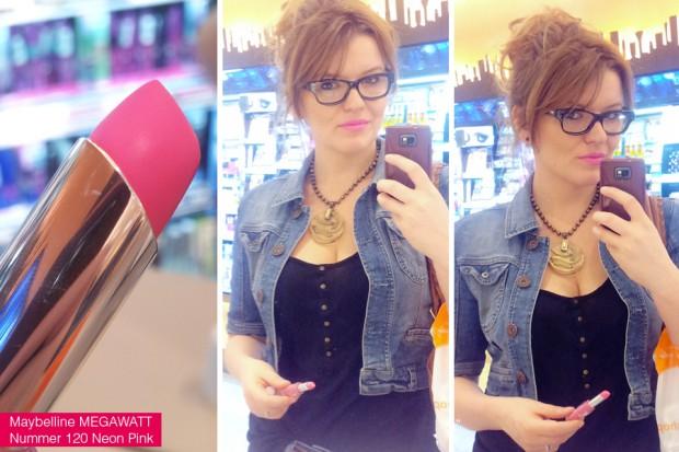 Maybelline Superstay MEGAWATT Lippenstift 120 Neon Pink