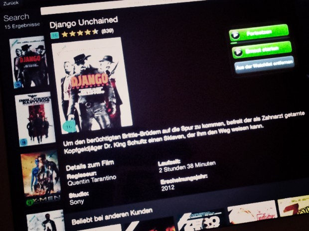 "Robina Hood Erfahrungsbericht Amazon Prime Instant Video Filmauswahl ""Django unchained"""