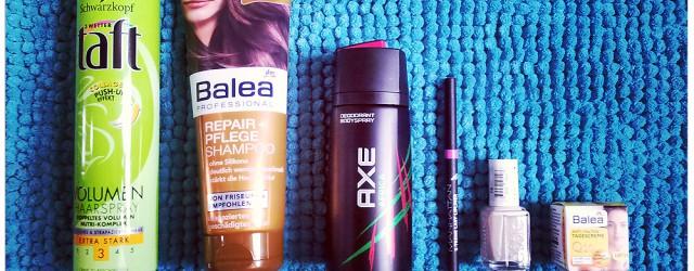 Robina Hood Drogerie-Haul: Taft Haarspray, Balea Shampoo, Axe Africa Deo aluminiumfrei, Manhattan Lipliner, Essie Nagellack Sand Tropez