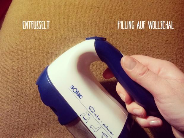 Mein Produkt-Favorit für 2014: der Fusselrasierer / die Fusselfräse von solac. Entfernt Pillingknötchen und Wollmäuse von Textilien aller Art