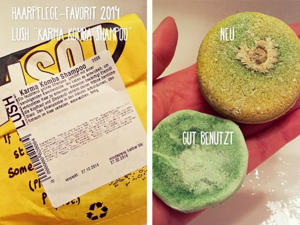"""Jahresfavorit 2014 in Sachen Haarpflege: Das feste Shampoo """"Karma Komba"""" von Lush - perfekt gegen schnell fettende Haare! : )"""