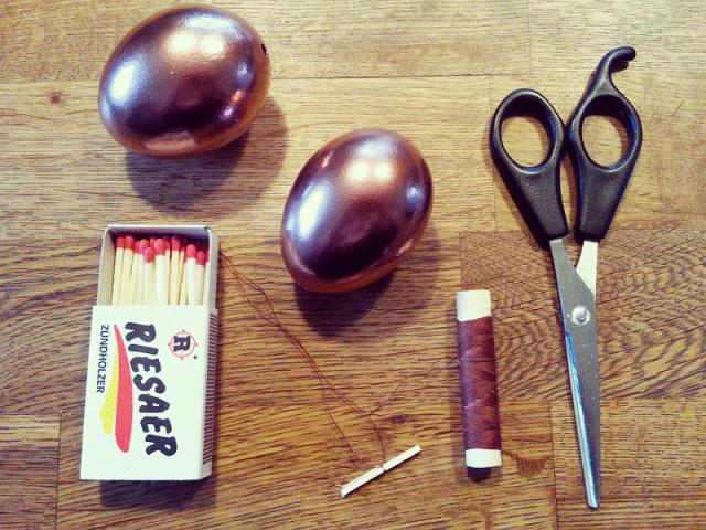 DIY von Robina Hood: Ostereier im Kupfer Look Design