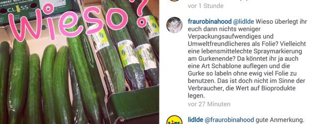 Nachgefragt: Wieso werden die Bio-Gurken mit Folie eingepackt und verschweißt? Lidl hat geantwortet.