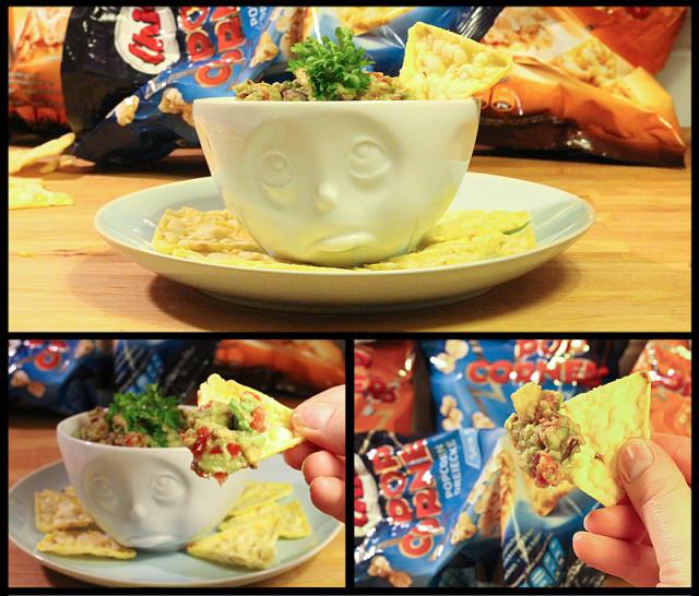 Alternative zu Chips oder Tortillas zu frischen Dips und Guacamole